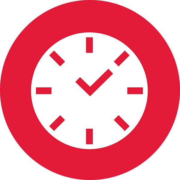 Self Management Circle Clock icon