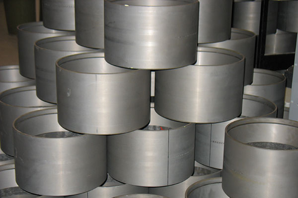 Rail Bearing Cups stacked up in a pyramid shape