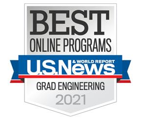U.S. News & World Reports - Best Online Programs: Grad Engineering 2021