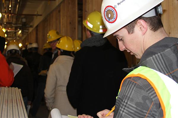 Construction site tour.