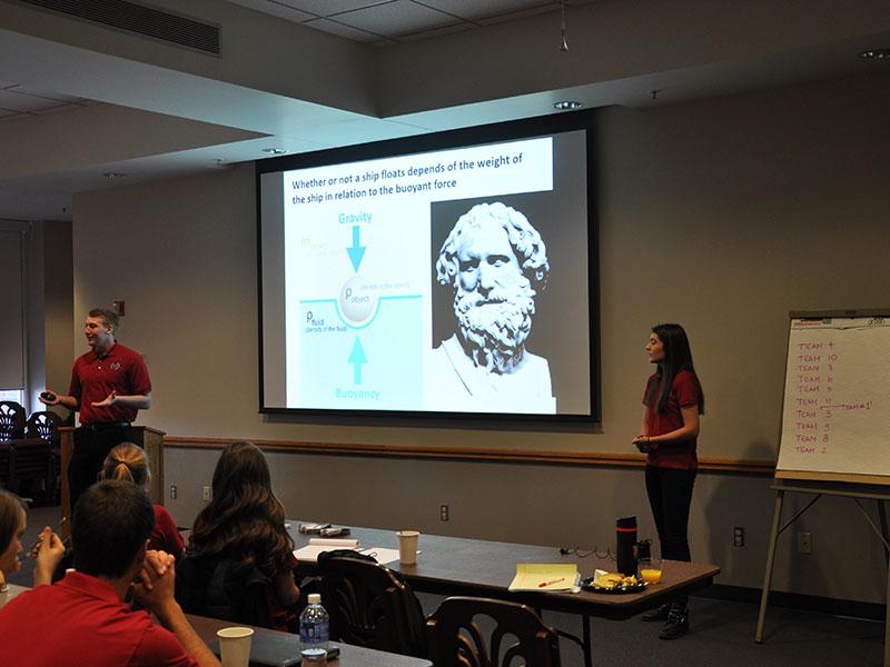 Ambassadors give a presentation on Gravity