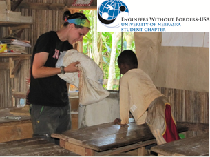Stacey Joy helped construct a biosand water filter at an elementary school in Manakana Sud, Madagascar in June 2011 with Engineers Without Borders