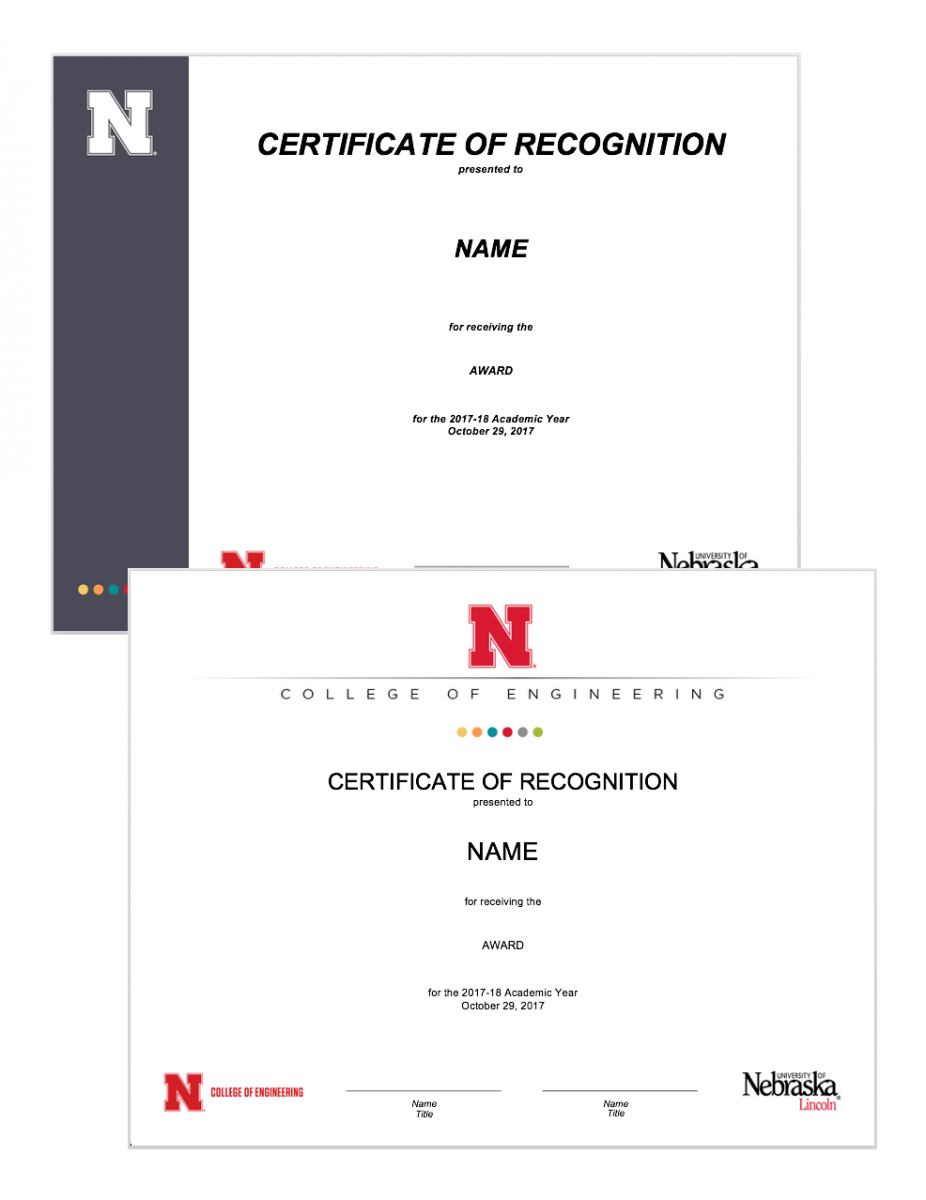 Certificates examples