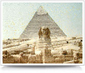 Egyptian pyramid.