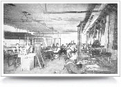 figure 8. People working inside the early EE building.