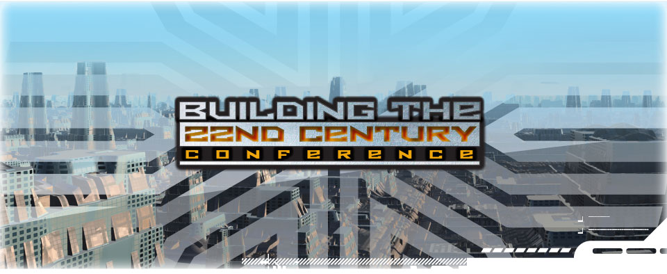Building the 22nd Century Conference Header - Image of city skyline