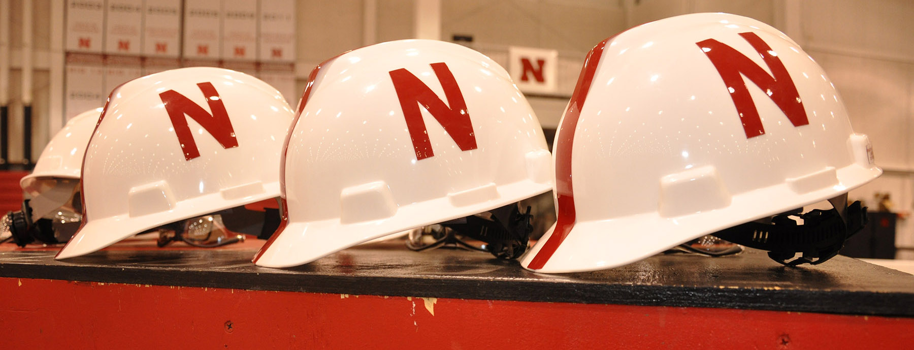hard hats with N logo