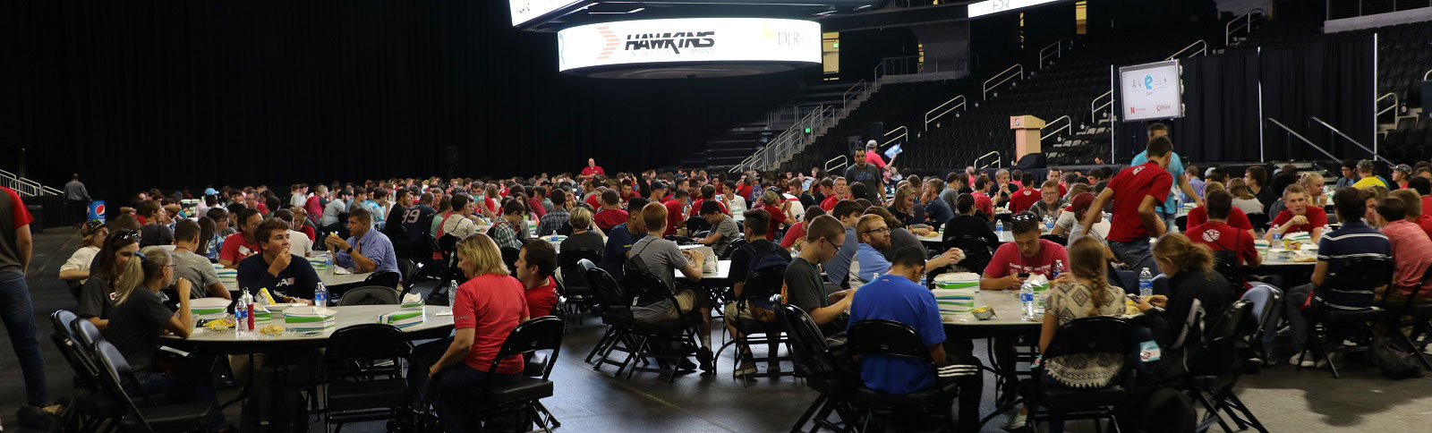 The NUBE lunch program was held at Baxter Arena in Omaha in 2017, pictured here