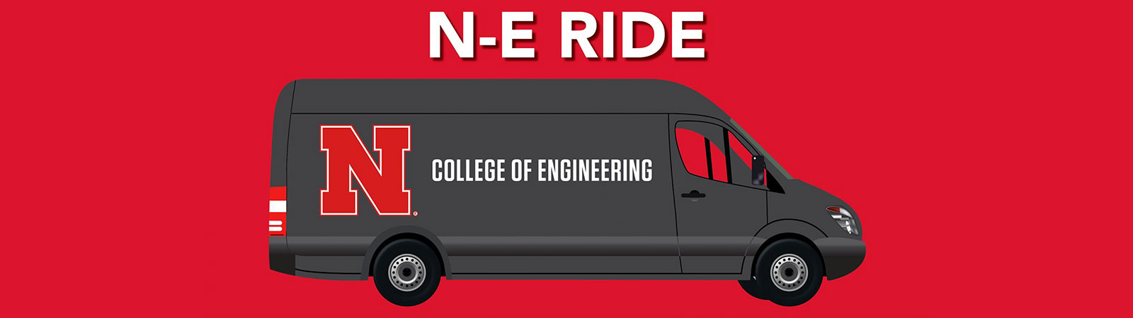 N-E Ride College of Engineering free van service between Lincoln and Omaha campuses for Engineering students.