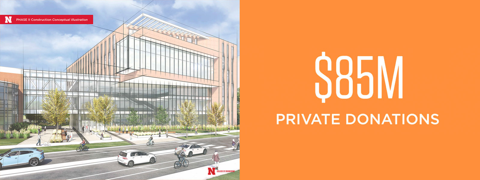 Phase 2- New Building: $85 million from private donations