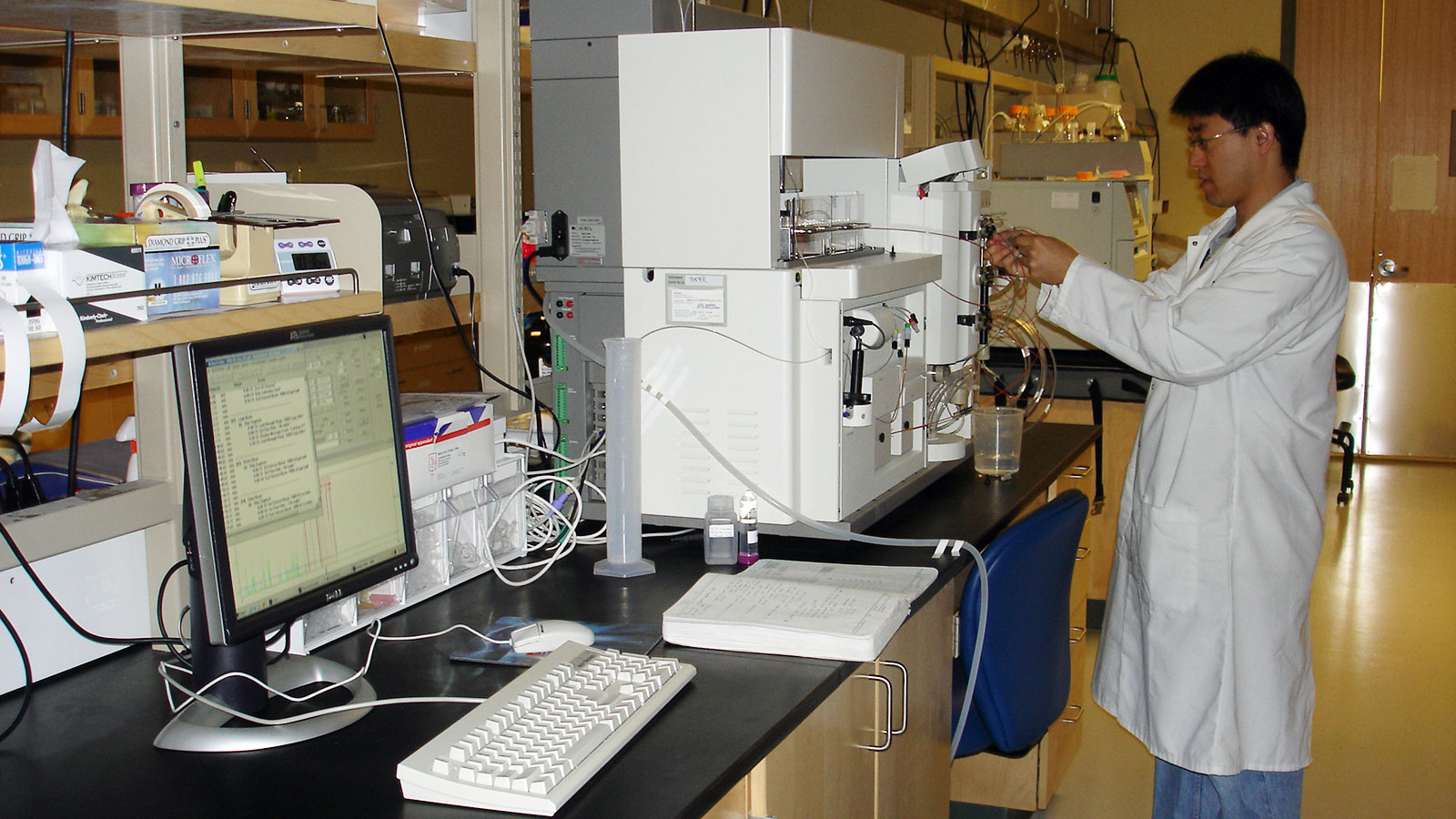 Student Working in a Laboratory