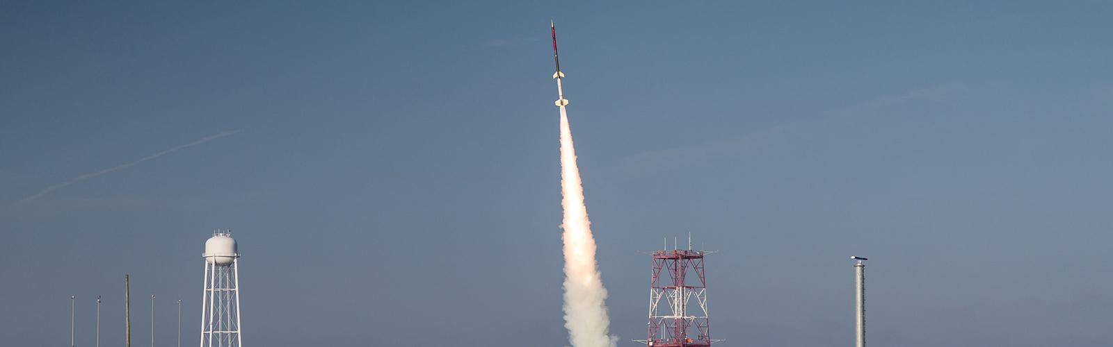 Photo of RockSat launch at NASA
