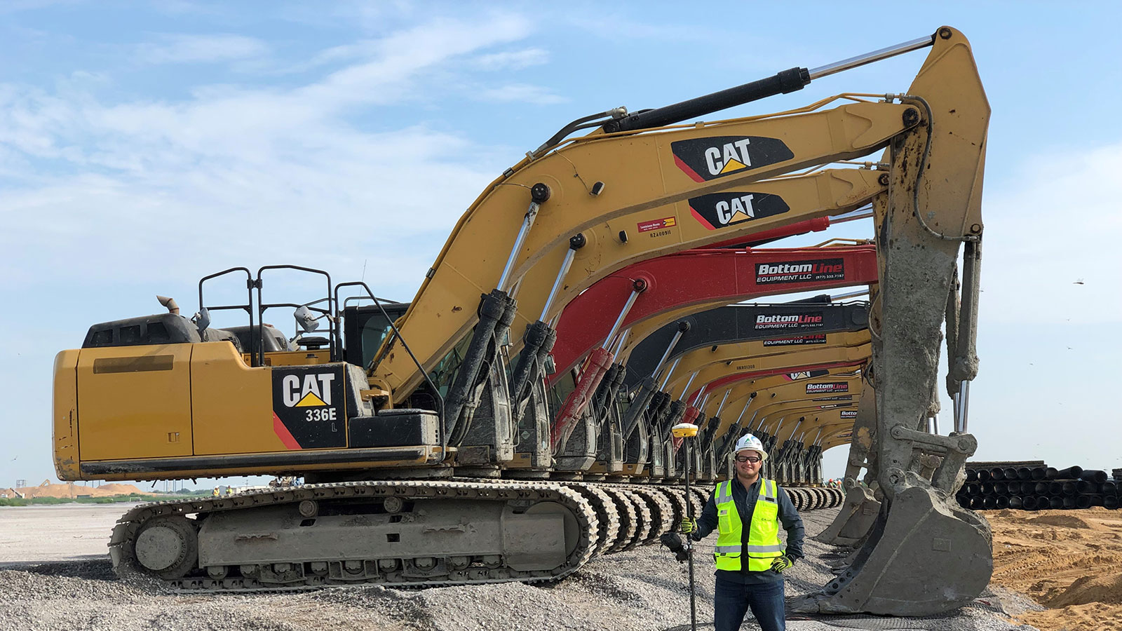 Malik Askar, a University of Nebraska–Lincoln graduate who interned with Kiewit Corp. in 2019, now works as a field engineer for Kiewit on a multi-billion-dollar liquified natural gas project.