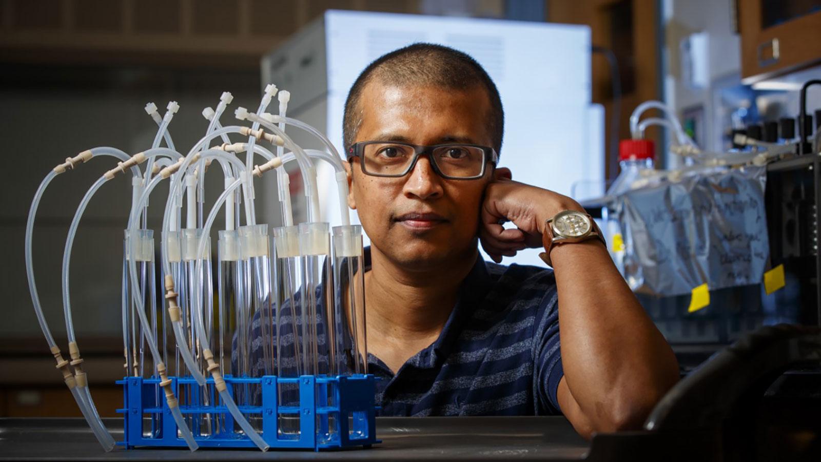 Rajib Saha, assistant professor of chemical and biomolecular engineering