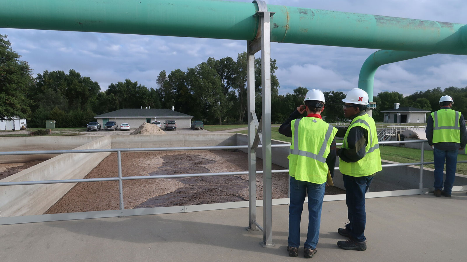 Viewing Water plant basin on a tour