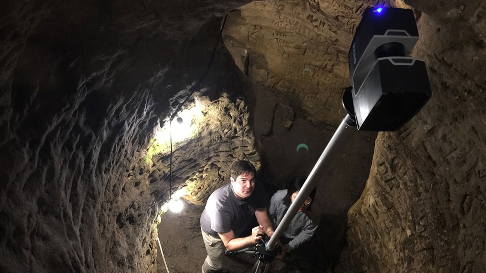 Richard Wood leads digital mapping of Robbers Cave.
