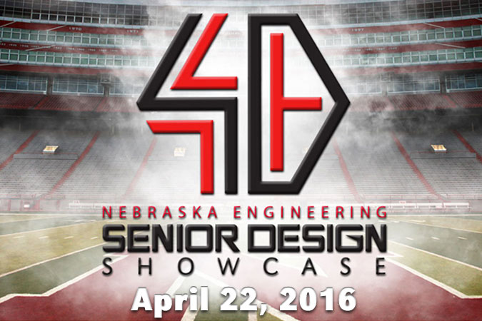 Nebraska Engineering Senior Design Showcase. April 22, 2016. Image of Memorial Stadium