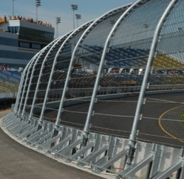 The SAFER barrier at the Iowa Speedway, which is installed throughout the facility.