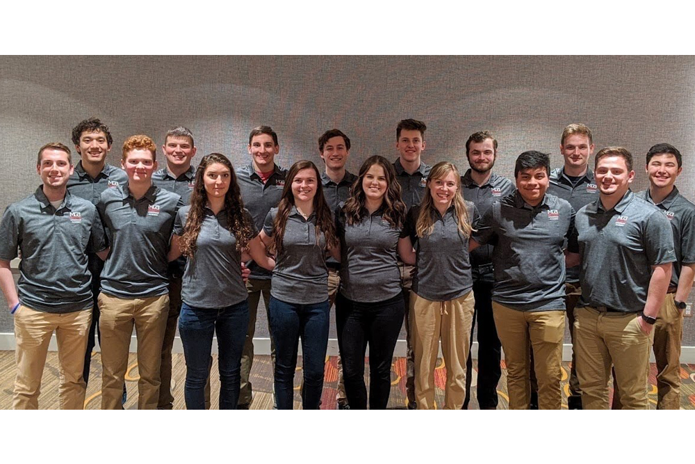 The Nebraska student chapter was chosen the 2019 Mechanical Contractors Association of America (MCAA) Student Chapter of the Year.