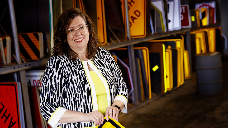 Pam Dingman, Lancaster County Engineer. (Craig Chandler / University Communication)