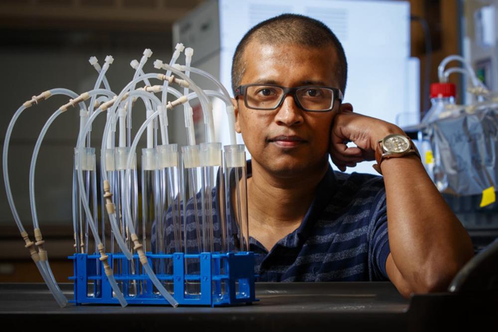 Rajib Saha, associate professor of chemical and biomolecular engineering.