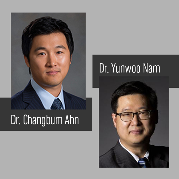 Dr. Changbum Ahn and Dr. Yunwoo Nam