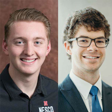 NESCO's Dalton Rabe and eSAB's Daniel Johnson