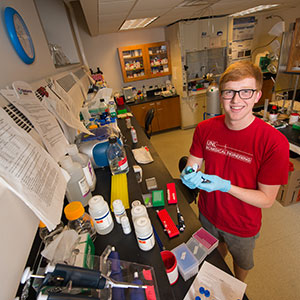 Christopher Davidson, a senior in biological systems engineering, has been chosen a recipient of a National Science Foundation Graduate Research Fellowship.
