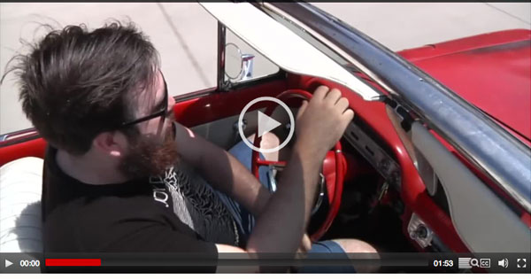 Video of student driving an internal-combustion engine.