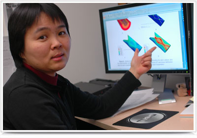 Linxia Gu, assistant professor of mechanical engineering, is the first hire through the ADVANCE-Nebraska office. Her research is aimed at improving stents used to aid blood flow.