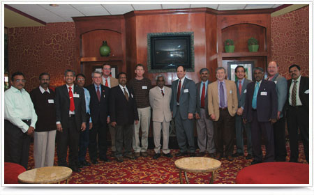 The group of leaders from engineering colleges in Chnnai, India with Nebraska Engineering leaders.
