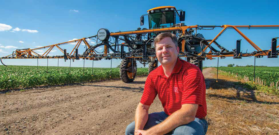 Joe Luck, associate professor of biological systems engineering, develops ways to make application systems more efficient in reducing spray drift.