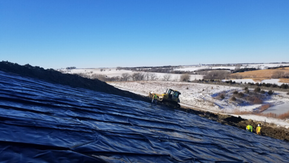 Jongwan Eun and a team of Nebraska researchers are testing a new landfill ground covering system shown to improve landfill gas emissions.