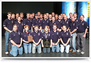 The UNL chapter of the National Association of Home Builders receives the Outstanding Student Chapter Award at the national competition in Orlando, Fla.