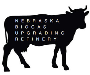 The logo for the Nebraska Biogas Upgrading Refinery, which chemical and biomolecular engineering students propose to help NPPD find a renewable source of fuel to create electricity.