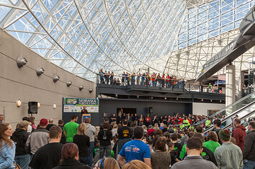 Crowds fill the Strategic Air and Space Museum for Nebraska's Robotics Expo