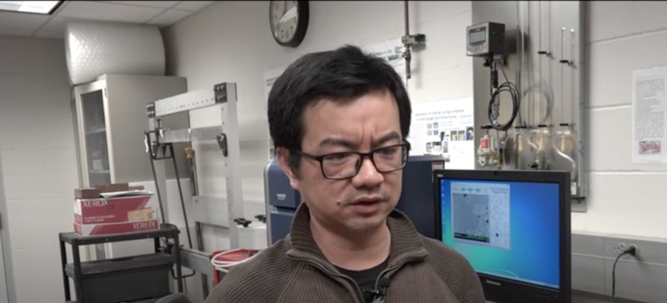 Jiong Hu, associate professor of civil engineering, was featured in a WOWT report about the formation and repair of potholes.