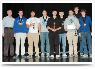 Omaha's Creighton Prep students who earned top overall honors in Nebraska TEAMS competition.