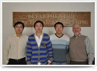 from left, are: Wei Qiao, Dingguo Lu, Jie Cheng, and Jerry Hudgins.