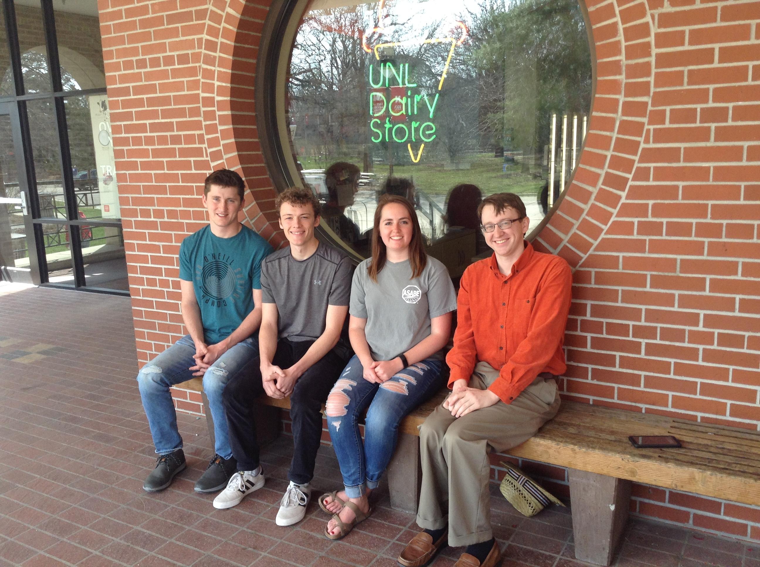Dairy Plant Relocation team (from left) is Luke Burbach, Justin Brinkman, Meredith Johnson and Loren Steinman.