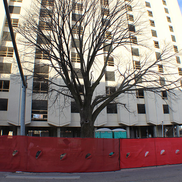 The Cather and Pound residence halls will be demolished on Friday, December 22.
