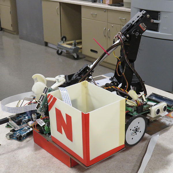 This robot is one that a team of engineering students in the UNL Robotics Club will use during a robotic harvesting competition at the ASABE International Meeting on July 31.