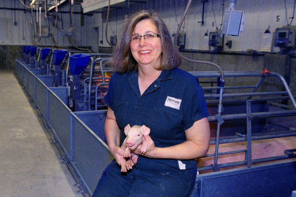 Tami Brown-Brandl, professor of biological systems engineering, was chosen to receive the Merck Animal Health 2020 High-Quality Pork - Precision Farming Award.