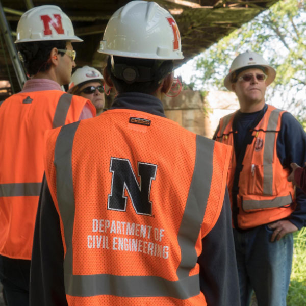 Civil engineering postgraduate students from the University of Nebraska-Lincoln are using sensors to collect data from a Union Pacific steel bridge built in Columbus, Nebraska, in 1908.