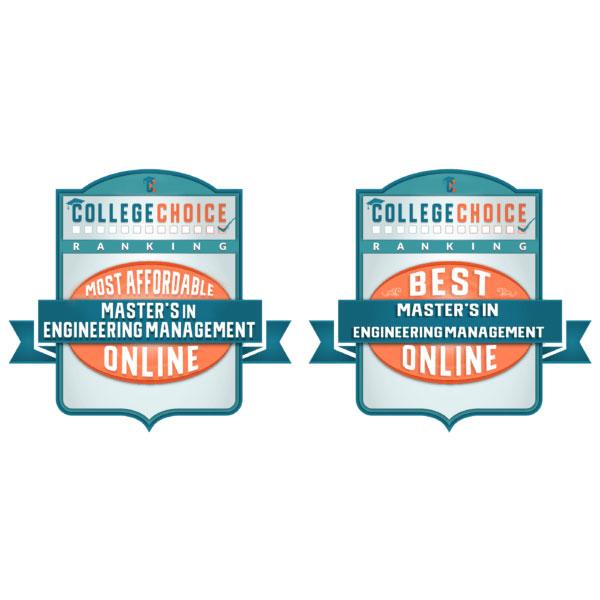 CollegeChoice.net has ranked Nebraska's Master of Engineering Management program in the top 20 in two categories.