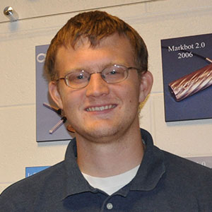 Tom Frederick, a graduate student in mechanical engineering and applied sciences.