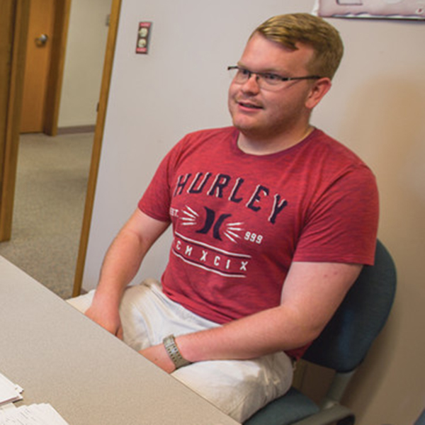 Ryan Green, a junior in mechanical engineering, received a get-ready order for possible deployment to help with hurricane recovery efforts in Texas. Green is a specialist with the Nebraska Army National Guard, Company T, 2-104th General Support Aviation Battalion.