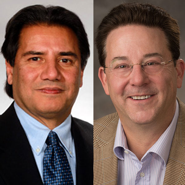 Hamid Sharif (left), professor of electrical and computer engineering, and Gregg Rothermel, professor of computer science and engineering, have been selected as IEEE Fellows for 2017