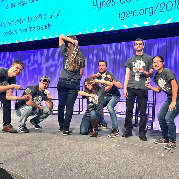 The University of Nebraska-Lincoln iGEM team earned a gold medal at the recent iGEM Giant Jamboree in Boston, Massachusetts.