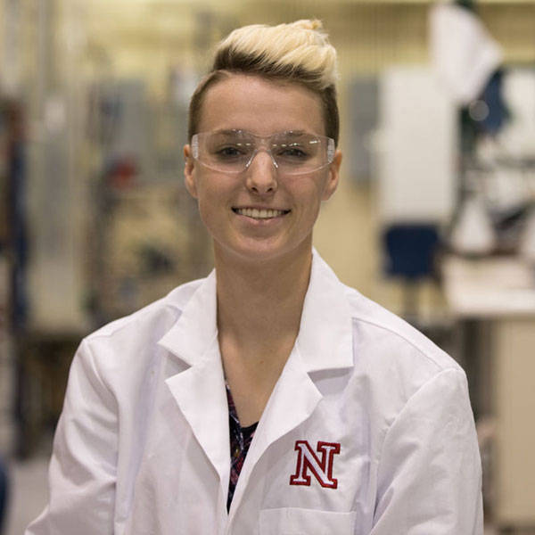 Lindsey Jarema, president of the UNL chapter of oSTEM (Photo by Sabrina Sommer / The Daily Nebraskan)